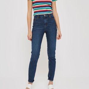 TOPSHOP, High Rise Med Wash 'Orson' Slim Fit Jeans